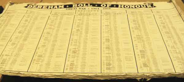 'Lost' Roll of Honour