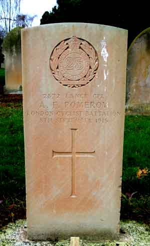 Lance Corporal Pomeroy, headstone